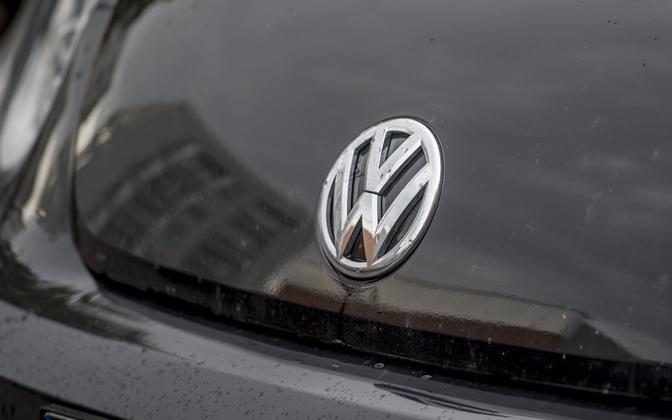 Volkswagen badge.