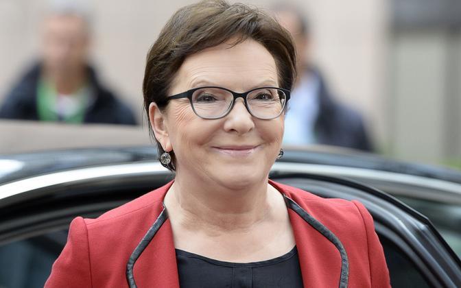 Poola peaminister Ewa Kopacz