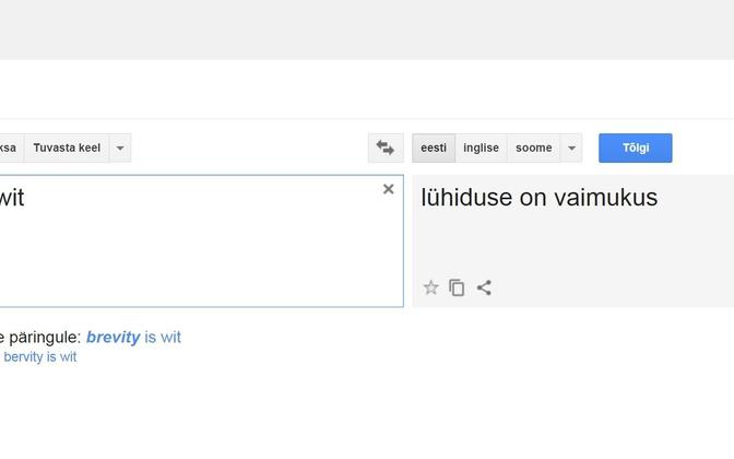 Tõlkimine nõuab konteksti mõistmist, lihtsalt sõnade tõlkimisel võib tähendus kaduma minna.