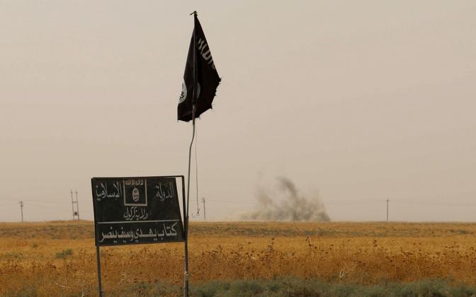 ISIS-e lipp ja plakat.