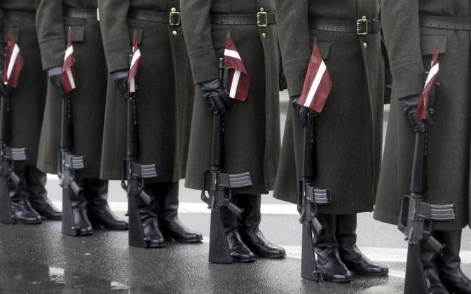 Läti sõdurid.