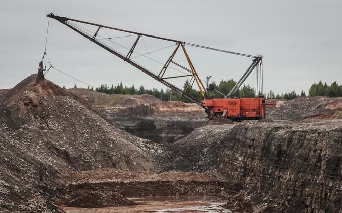Oil shale mining.