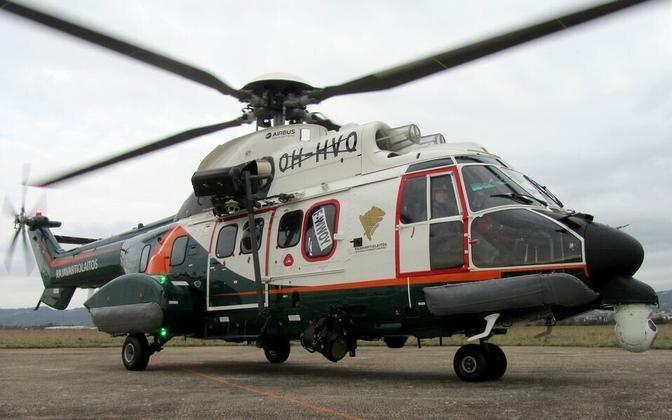 Finnish border guard helicopter.