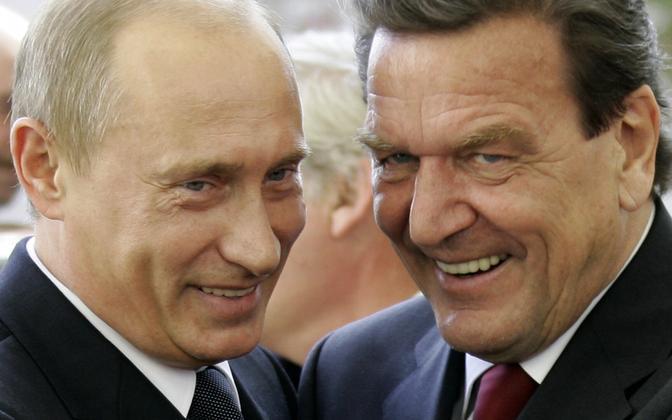 Venemaa president Vladimir Putin ja Nord Streami projekti vedav endine Saksa liidukantsler Gerhard Schröder