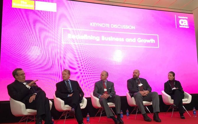 President Toomas Hendrik Ilves at the World Economic Forum in Davos, Switzerland