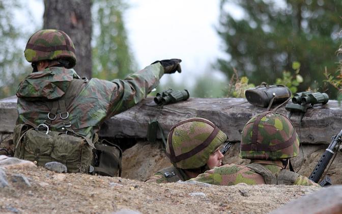 Soome sõdurid õppusel
