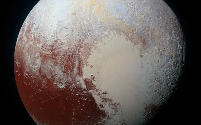 Pluuto südant meenutav pinnavorm. Ülesvõtte värvitoone on muudetud selle paremaks eristamiseks.