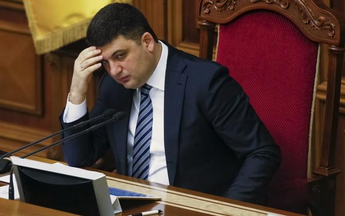Ukraina ülemraada esimees Volodõmõr Groisman.