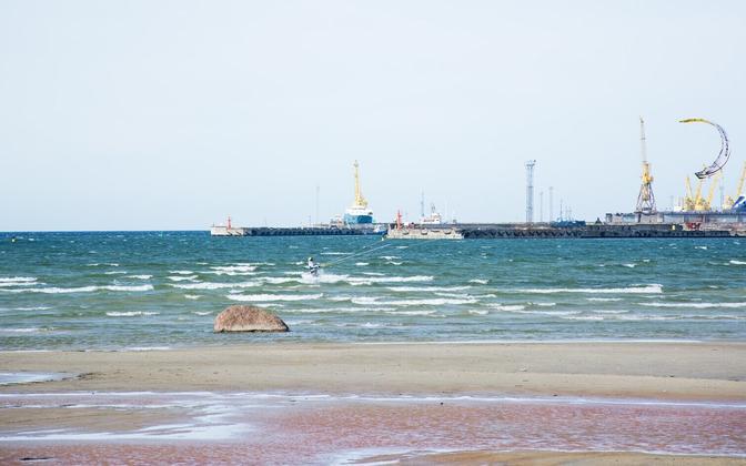 Пляж Штромка в Таллинне.