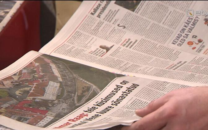 Features and opinion pieces pages from Eesti Päevaleht (picture is illustrative).