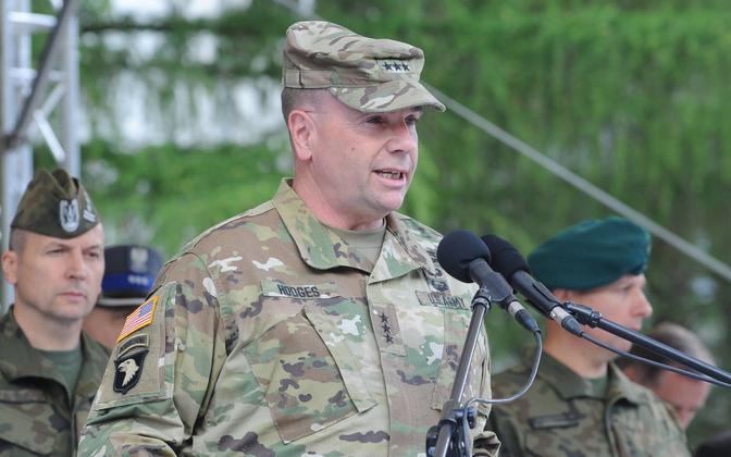 Kindralleitnant Ben Hodges, USA Euroopa maavägede ülem.