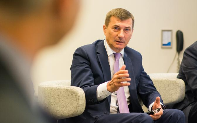 European Commission Vice-President Andrus Ansip (Reform/ALDE)