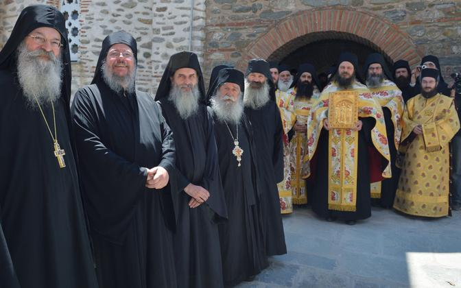 Representatives of the Orthodox Church of Moscow Patriarchate. Photo is illustrative.