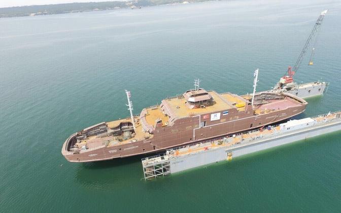 Türgi laevatehases valmiv parvlaev