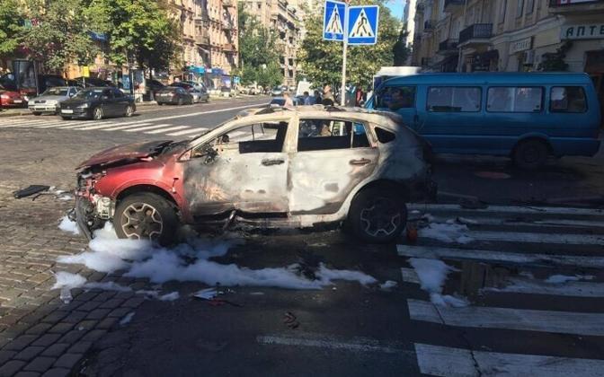 Foto sündmuskohalt Kiievis.
