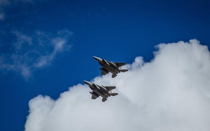 American F-15C Eagle fighter jets (image is illustrative).