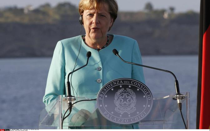 German Chancellor Angela Merkel at a press conference in Italy, Aug. 22, 2016
