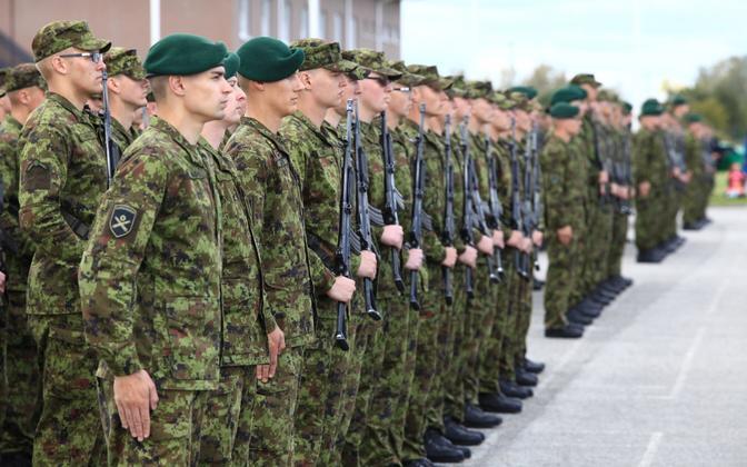 Estonian conscripts.