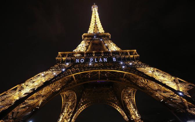 Eiffeli torn mullu novembris Pariisi kliimakonverentsi ajal.