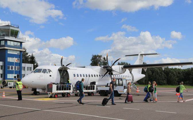 Passengers arriving in Tartu, summer 2016.