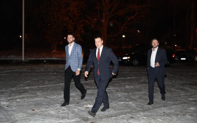 Главы коалиционных партий в Кадриорге.