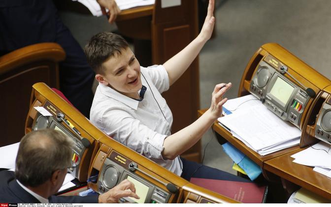 Nadia Savchenko Ukraina ülemraadas.