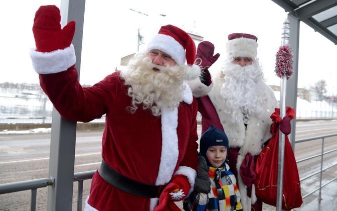Дед Мороз и Санта-Клаус встретятся в Нарве 20 декабря.