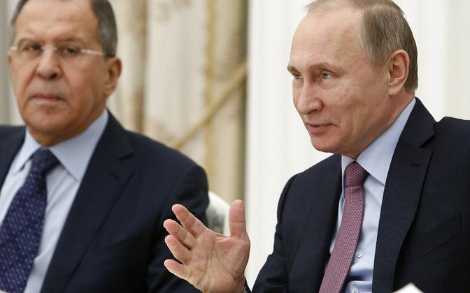 Venemaa välisminister Sergei Lavrov ja president Vladimir Putin.