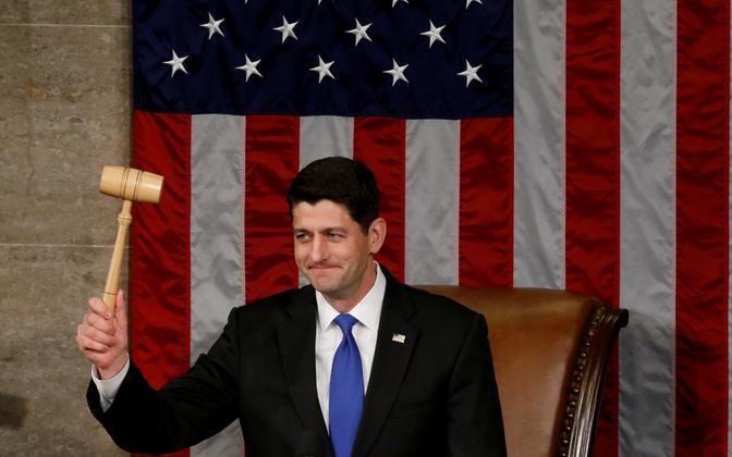 Esindajatekoja spiiker Paul Ryan uue kongressi avaistungil.