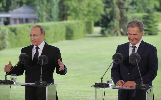 Putin ja Niinistö 2016. aasta juulis Kultaranta residentis.