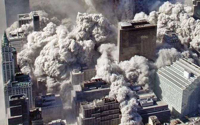 Kaksiktornide kokkuvarisemine New Yorgis 11. septembril 2001.
