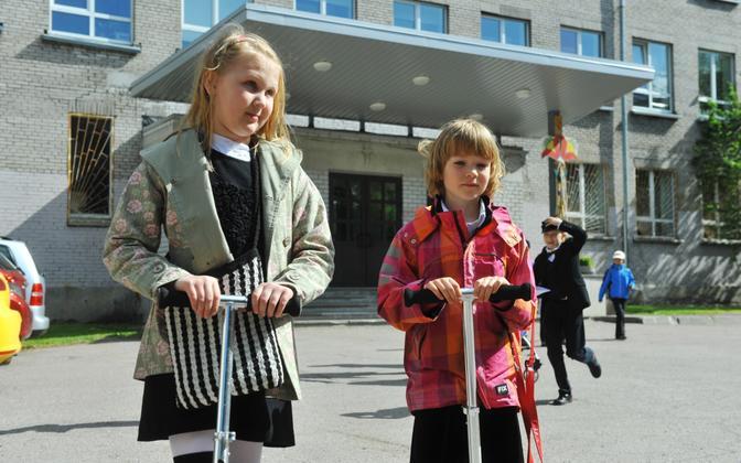 Schoolchildren in Tallinn. Photo is illustrative.