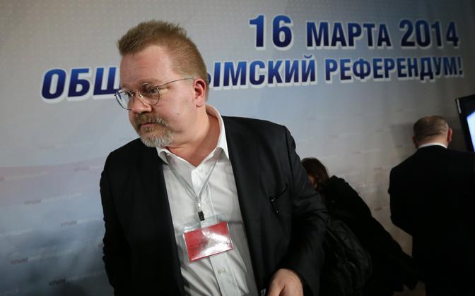 Johan Bäckman 2014. aasta märtsis Krimmi poolsaarel.