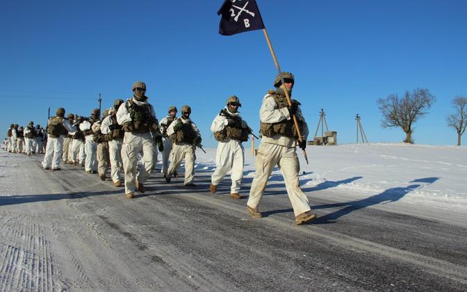 Eesti ja USA sõdurid alustasid Kirde-Eestis talveretke.