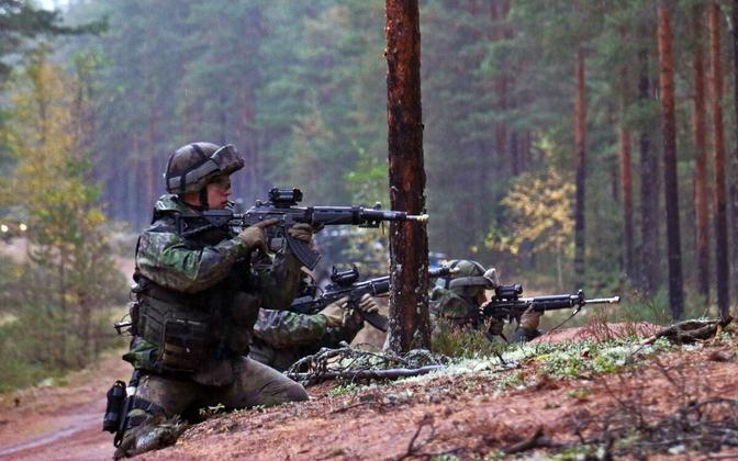 Soome sõdurid õppusel.