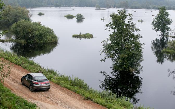 Flooding in Estonia's Soomaa National Park. Aug. 22, 2016.