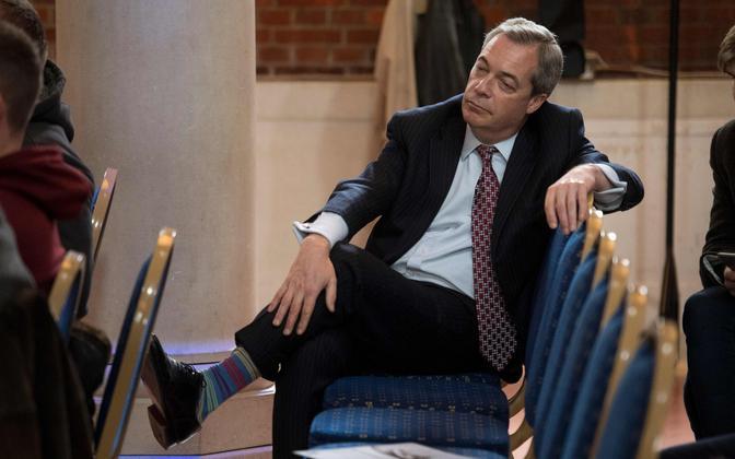UKIP-i endine juht Nigel Farage.
