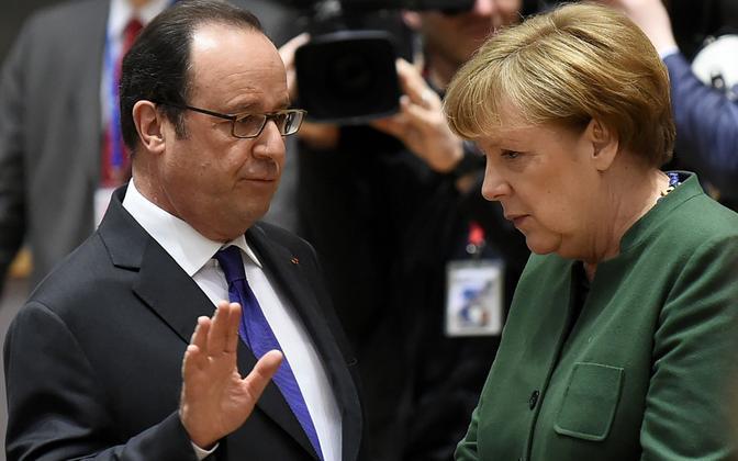 Angela Merkel ja Francois Hollande.