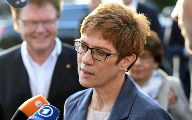 Saarimaa valimistel CDU esinumbriks olnud Annegret Kramp-Karrenbauer.