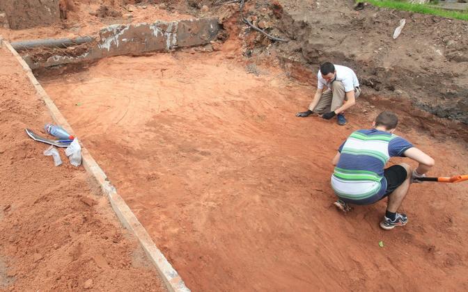 Arheoloogilised väljakaevamised Tartus.