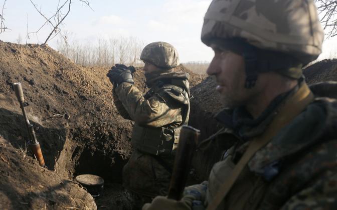 Ukraina sõdurid Šõrokõne lähistel.