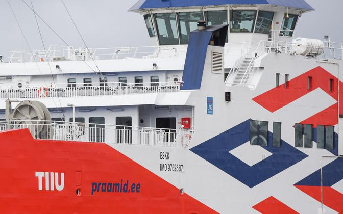 The Tiiu, the vessel replacing the out-of-action Tõll on the Saaremaa ferry route.