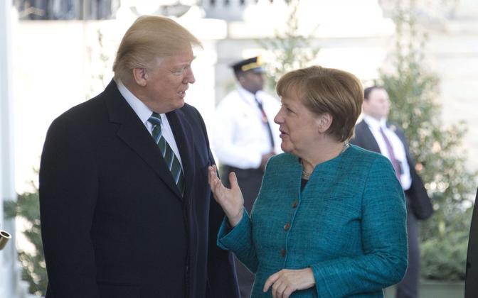 Trump ja Merkel 17. märtsil Washingtonis.