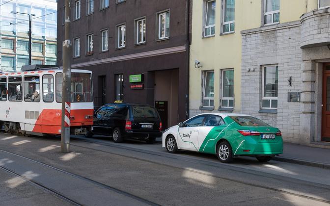 Taxify sõiduk Tallinnas.