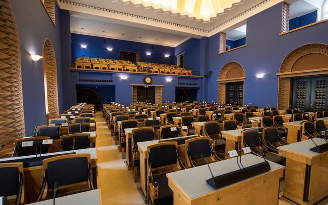 The Session Hall of the Riigikogu.