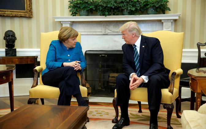 Merkel ja Trump Valges Majas 17. märtsil.