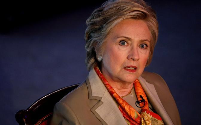 Hillary Clinton heategevuslikul lõunal New Yorgis.