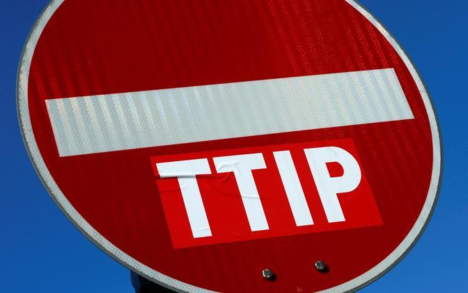 TTIP-vastane kleebis 2016. aasta märtsis Fankfurdis.