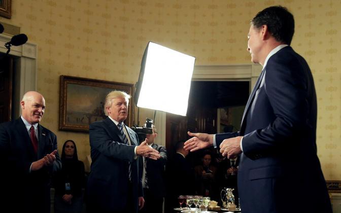 Trump ja Comey 22. jaanuaril.