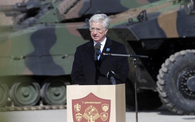 Briti kaitseminister Michael Fallon 20. aprillil Eestis.
